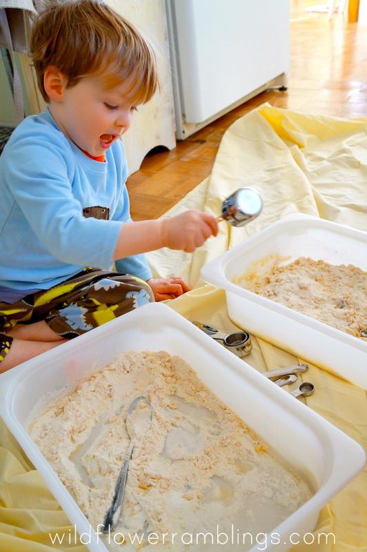gluten free cloud dough {12 months of sensory dough}