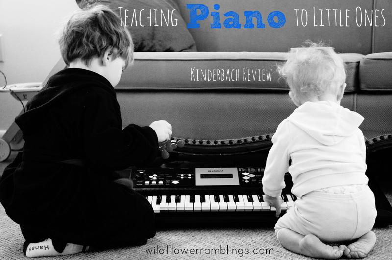 KinderBach Review {teaching piano to young children} from WIldflower Ramblings