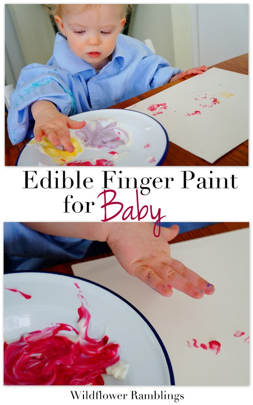 Edible Finger Painting for Baby from Wildflower Ramblings