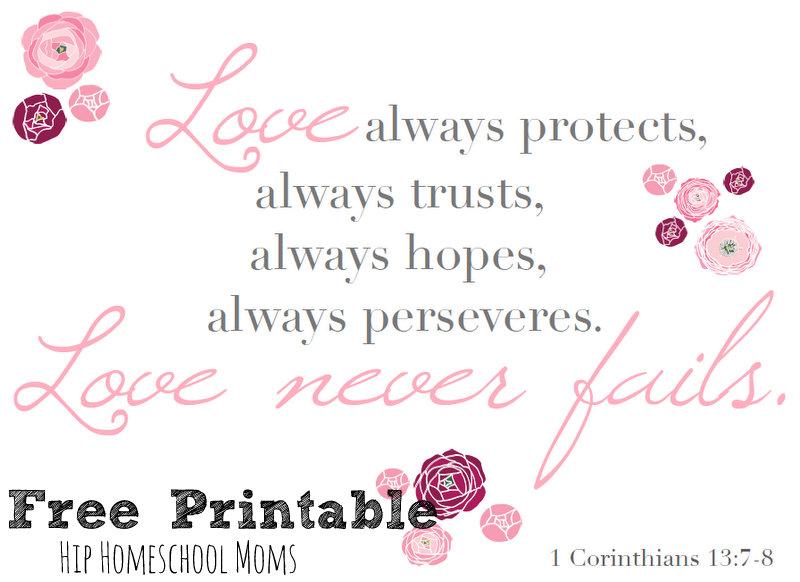 1 Corinthians 13 Free Printable