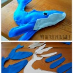 How to make a Felt Whale {ABC Felt Animals}