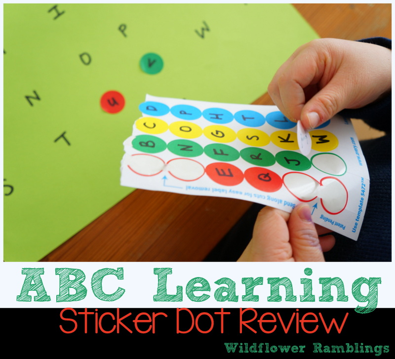 ABC Learning: Sticker Dot Letter Review from Wildflower Ramblings