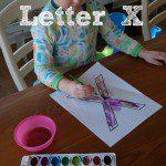 Tot School: Letter X