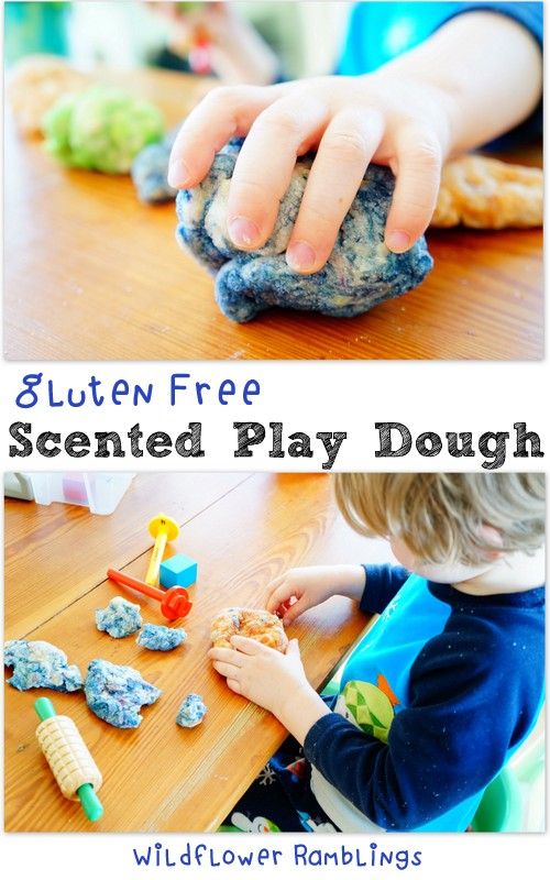 how not to make scented gluten-free play dough {12 months of sensory dough}