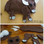 How to make a Felt Yak {ABC Felt Animals}