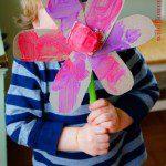 egg carton spring flower