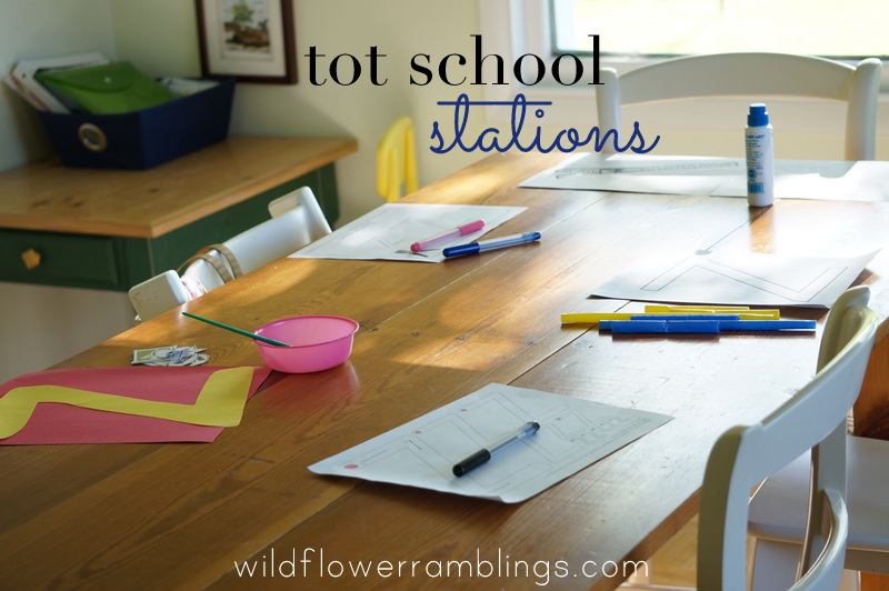 tot school stations - wildflower ramblings