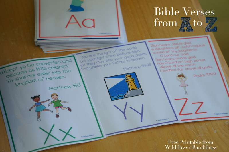 ABC Bible Verses for Children {free printable ...