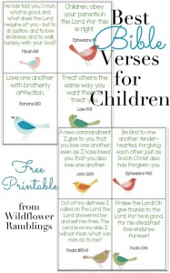 10 Recitation Cards: Bible Verses for Children