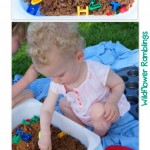 baby safe & edible moon sand {12 months of sensory dough}