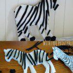 How to make a Felt Zebra {ABC Felt Animals}