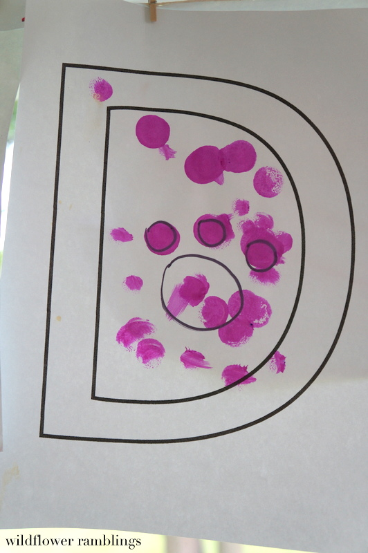 D is for Do-a-dot dog prints