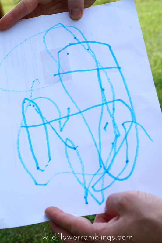 """drawing an """"I'm Sorry"""" picture {early writing skills} from wildflower ramblings"""