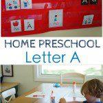 Home Preschool: Letter A