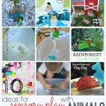 Sensory Play with Animals {10 Activity Ideas!}