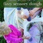 lavender fizzy sensory dough