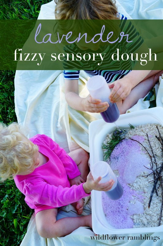 lavender fizzy cloud dough from wildflower ramblings