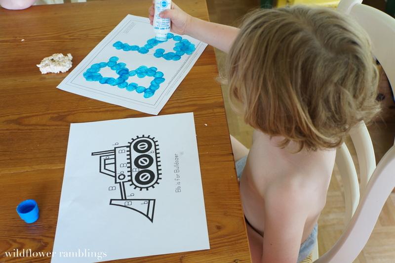 Home Preschool : Letter B - Wildflower Ramblings
