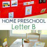 Home Preschool: Letter B