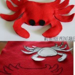 How to make a Felt Crab {ABC Felt Animals}