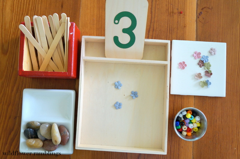 Reggio Preschool Math Ideas from Wildflower Ramblings