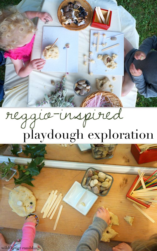 reggio inspired playdough exploration - wildflower ramblings