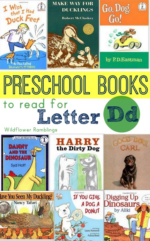 preschool books to read for the letter d - wildflower ramblings