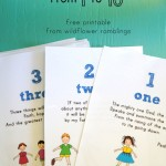 Bible Verses from 1 to 10 {free printable for children!}