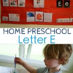 Home Preschool: Letter E