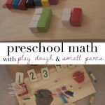 reggio inspired play dough and math play