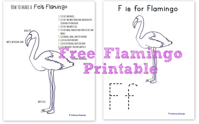 How to make a felt flamingo {free printable!} - Wildflower Ramblings