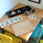 reggio-inspired math table