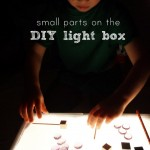 small parts play on the diy light box