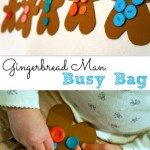 Gingerbread Man Button Counting Busy Bag
