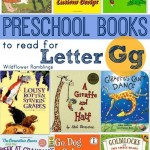 preschool books for the letter g