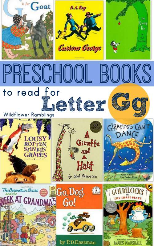 Head to the library for preschool books for letter Gg - Wildflower Ramblings