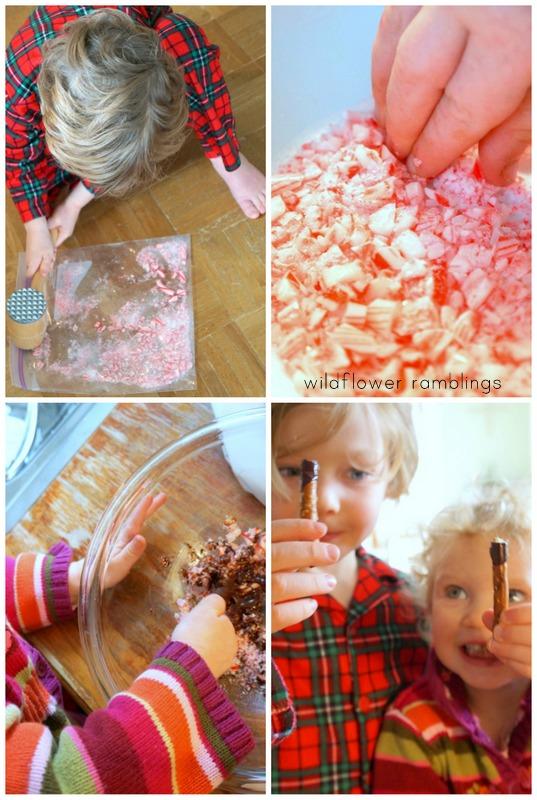 reindeer sticks made by kids!!!! - wildflower ramblings