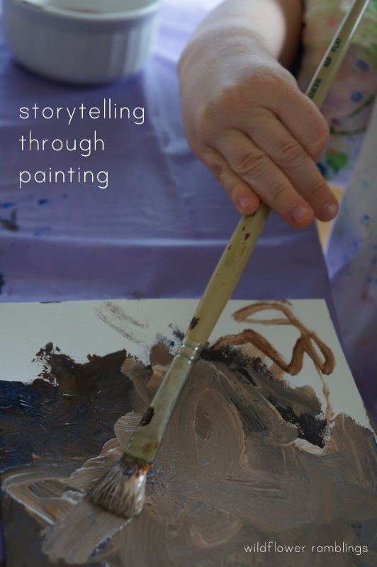 storytelling through painting: reggio art and writing - wildflower ramblings
