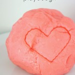 cherry scented homemade playdough