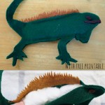 How to make a Felt Iguana