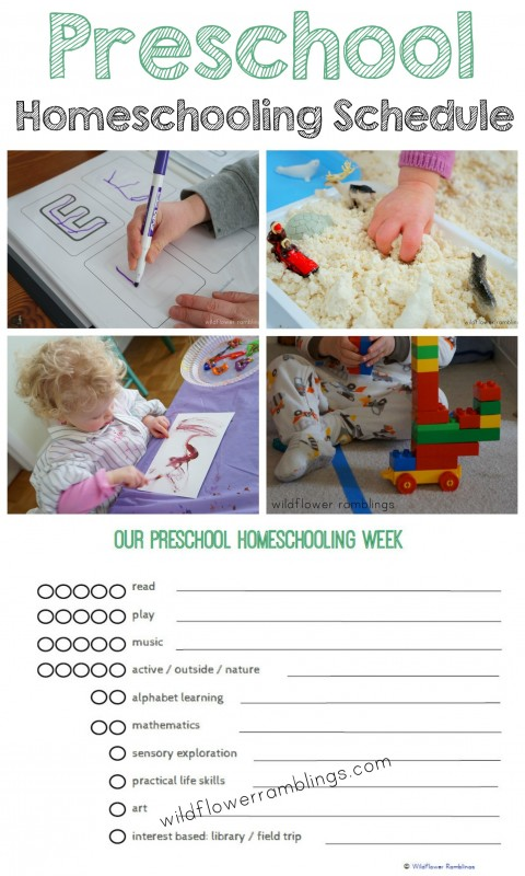 Preschool Homeschooling Schedule - simple and easy to adapt! -Wildflower Ramblings