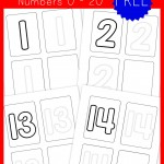 Preschool Handwriting Practice – Numbers {free printable}