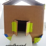 make a cardboard noah's ark