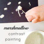 marshmallow contrast art