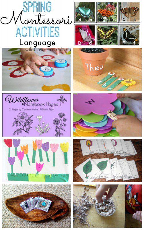 Montessori Spring Alphabet Activities - over 40 preschool ideas