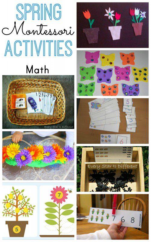 Montessori Spring Math Activities - over 40 preschool ideas