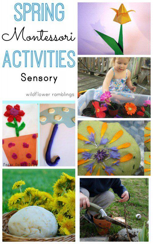 Montessori Spring Sensory Activities - over 40 preschool ideas