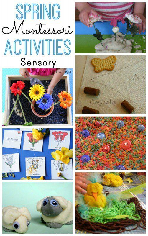 Spring Montessori Sensory Ideas for Preschool