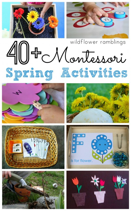 Montessori Spring Activities - over 40 preschool ideas