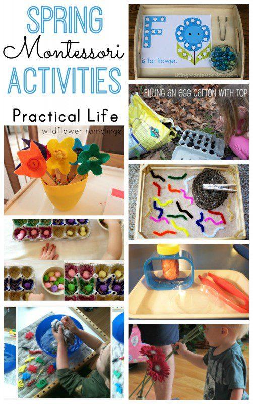 Montessori Spring Practical Life Activities - over 40 preschool ideas